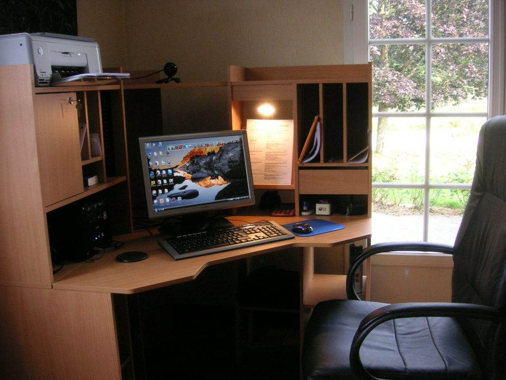 the-work-at-home-office-computer-desk